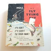 1950s Noll Fly Tying Kit Vintage Fly Fishing Lure Making Kit No. 20 Pennsylvania