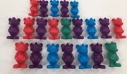 Lot/21 Chuck E. Cheese Plastic Figurines, Good Condition, Discontinued