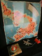 Trans World Flyer Antique Vintage Wind-up Remote Control Flying Airplane Toy Wit