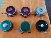 6-fly Fishing Vintage Reels South Bend, Shakespeare And Perrine Collectibles Usa
