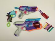 Lot Of 3 Nerf Rebelle Blasters With 9 Rebelle Darts And 13 Non Nerf Darts