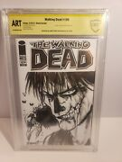 The Walking Dead 109 Blank Cover Sketch Crow And Signed By James Oand039barr Art Cbcs