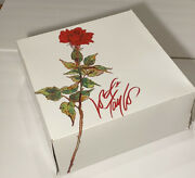 Lord And Taylor New York Vintage Department Store Gift Box Extra Large Red Rose