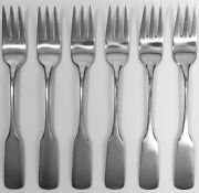 Wmf Pilgrim 6 Cocktail / Seafood Forks Satin Stainless Flatware Germany