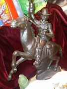 Cowboy Hall Of Fame 1982 Mccormack Collectors Special Bronze Like Horse Cowboy