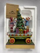 Jim Shore-christmas On Track With All The Trimmings Train Car2008 New 4011074