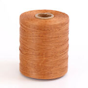 Brown 800 Meters 1mm Flat Nylon Waxed Leather Thread Cord Leather Craft Tools