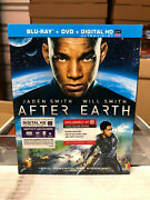 After Earth Blu-ray/dvd, 2013 New Oop Target Exclusive W/ Slipcover Rare