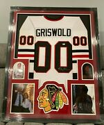 Chevy Chased Signed Framed Jersey Christmas Vacation Beckett Certified Auto