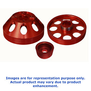 Torque Solution For Lightweight Water Pump Crank Andalternator Pulley Combo Red
