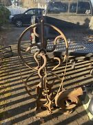 Old Antique Blacksmith Forge With Blower J.l Stichter And Son Reading Pa Late1800s
