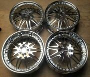 Russtec Forged Wheels / Rims 21 Inch Staggered 5x112 Chrome For Mercedes Audi