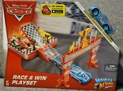 Disney Cars Wheel Action Drivers Race And Win Playset W/ Exclusive Dinoco Mcqueen