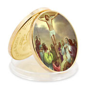Christmas Souvenir Gifts Luxury Gifts Jesus 24k Gold Plated Metal Coin Ornament