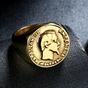 Napoleon Iii Coin Rings For Women Men 316l Stainless Steel French Coin Jewelry