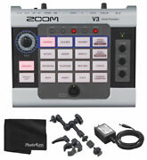 Zoom V3 Multi Effects Vocal Processor + Ac Adapter And Handy Recorder Mount
