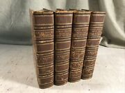 Half Hours With Best Authors Antique Leather Books Shabby Chic Decor Library