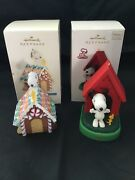 Hallmark Peanuts Ornaments Snoopy - In The Groove 2010 - Home Sweet Home 2008