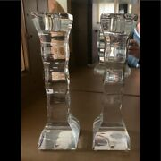 Orrefors Crystal, Cruise Design Candle Holders