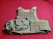 Msa Paraclete Personal Body Armor Large Tan With Inserts Tactical Tailor Pouches