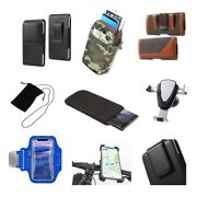 Accessories For Htc Inspire Hd Sock Bag Case Sleeve Belt Clip Holster Armban...