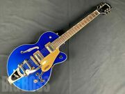 Electromatic G5655tg Azm Semi-hollow Body With Soft Case Good Quality From Japan