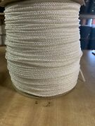 3.5 Mm X 1000 Ft. Diamond Braid Polyester Rope Spool. White. Made In Usa.