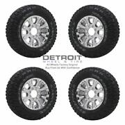 18 Ford F250 Pvd Bright Chrome Wheels Rims And Tires Oem Set 4 2017-2021 10097