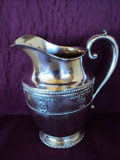Gorgeous Wallace Rose Point Sterling Silver Water Pitcher 9 Tall 4640-9