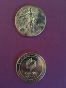 1oz .999 Fine Silver Liberty Coin From 2001 And 1oz. Opm Metals .999 Fine Silver