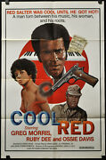 Cool Red / Countdown At Kusini 1976 Orig 27x41 Movie Poster Ruby Dee Ossie Davis