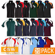 20 X Mens Alliance Cool Dry Short Sleeve Office Sport Casual Tradies Work Polo