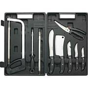 Butcher's Knife Set 13pc Stainless Steel Hunter Process Game Skinning Fishing