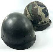 Us Army Ww2 Korean M1 Helmet Capac Liner Camo Cover And Band