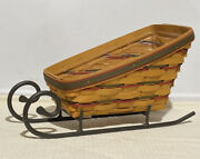 Longaberger Holiday Sleigh Basket 1997, Runner And Protector