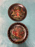 2 Age-old Russian Fairytale Legend Collector Plates 1988