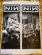Nine Inch Nails Palladium Poster 12/7 And 12/8 Bottom Of The Pyramid 30x42 Uncut