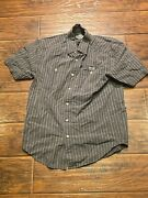 Harley Davidson Motorcycle Short Sleeve Button Down Adult S