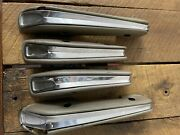 Oem Ford 1963 1964 Galaxie 500 Interior Arm Rest 4 Door Front And Rear Gold Fomoco