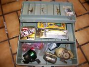 Lot Of Fishing Tackle And Reels Shakespeare Sportfisher 201 Daiwa M80 Johnson 40th