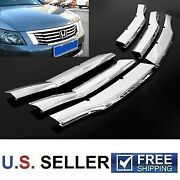 For 2008 2009 2010 Honda Accord 4dr Chrome Insert Grille Overlay Cover Trims