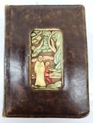 Late 19th Century Rare Antique Carved Deck Cards And Score Pad Book