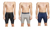 New Mens Athletic Works Compression 9 Long Boxer Briefs Buy More Save More