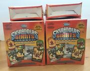 Lot Of 10 Boxes Of 2013 Topps Skylanders Giants Value Box - 4 Packs And 2 Dog Tags
