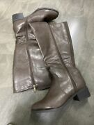 Lane Bryant Brown Faux Leather Wide Calf Riding Boots Size 11w New Wide