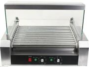Stainless Steel Commercial 11 Roller Grill And 30 Hot Dog Cooker Machine Cy