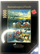 New Ravensburger Canadian Artist Puzzle The End Of The Game 1000 Pc Hockey