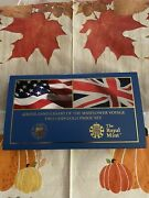 Rare - Gold Mint- Us/uk - 400th Anniversary Mayflower Voyage 2 Coin Set Limited
