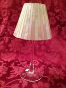 Nib Partylite Iridescent 2 Piece Candle Lamp Rare/discontinued P9215 And P9216