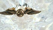 Vintage Ww2 Air Patrol Wing Sterling Silver Marked Gemsco Ny